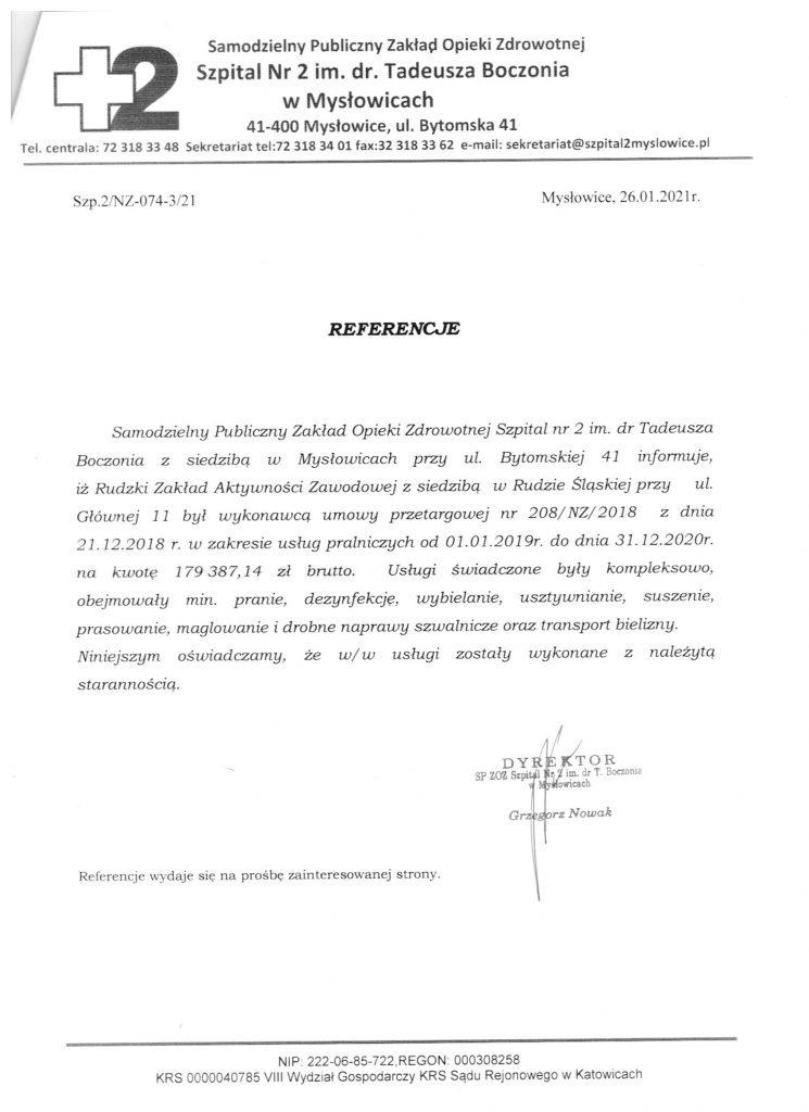 referencje Szpital w Mysłowicach