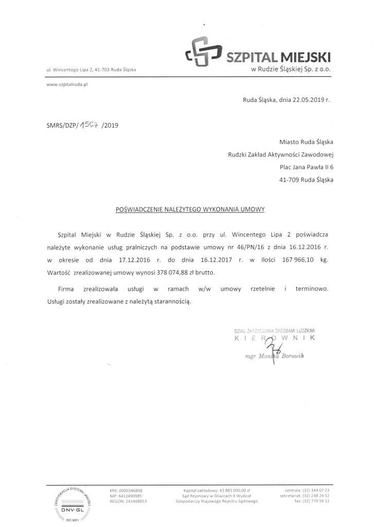 referencje szpital miejski w Rudzie Śląskiej