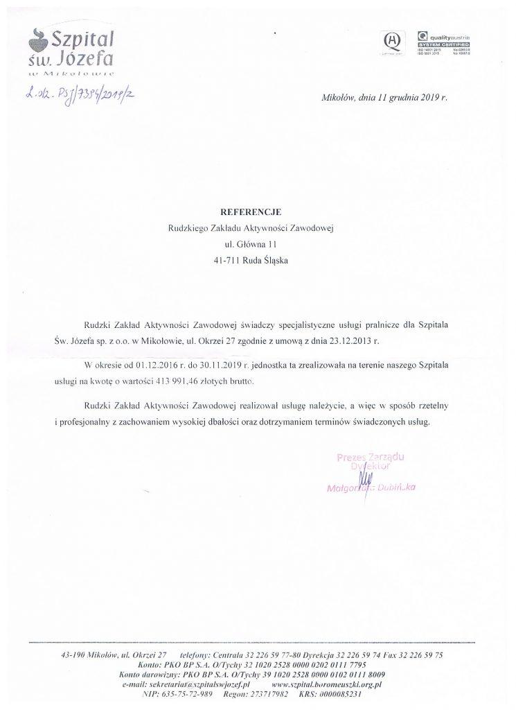 referencje Szpital w Mikołowie